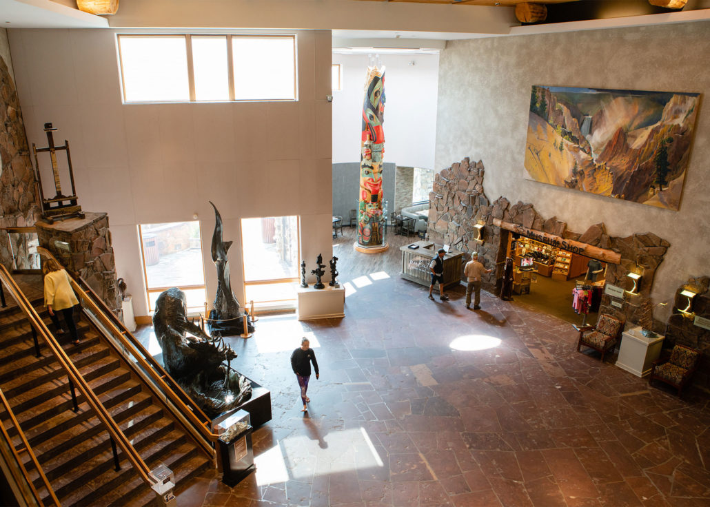 A View into the National Museum of Wildlife Art's Awe-Inspiring Lobby